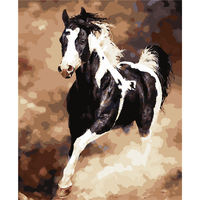 Frameless Anima Horse Oil Paint Painting By Number Diy Picture Drawing Coloring By Number On