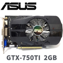 Asus GTX-750TI-OC-2GB GTX750TI GTX 750 TI 2G D5 DDR5 128 Bit PC Desktop Graphics Cards PCI Express 3.0 computer Graphics Cards(China)