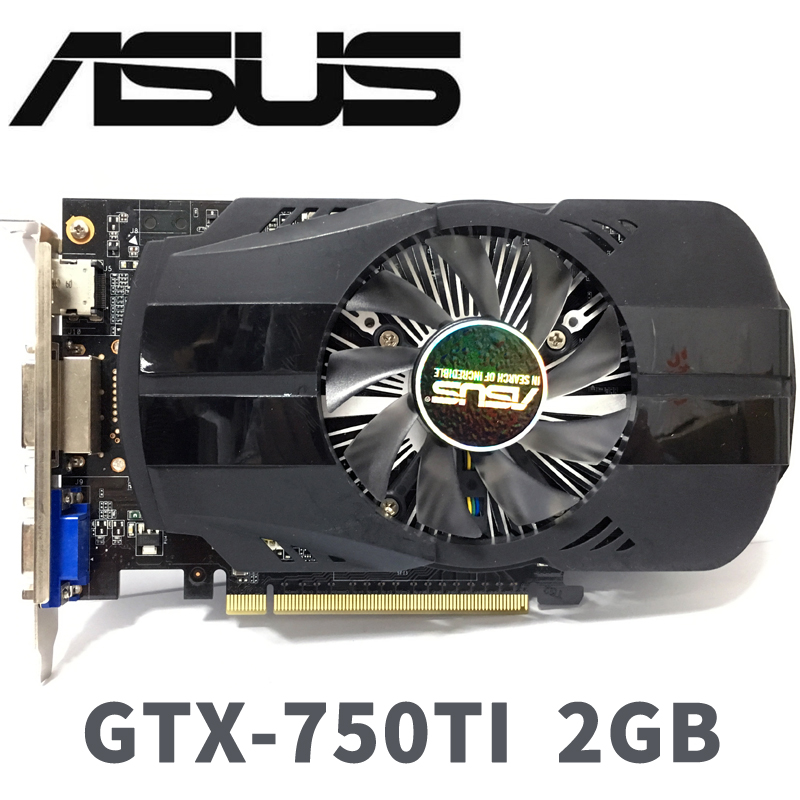 Asus GTX-750TI-OC-2GB GTX750TI GTX 750 TI 2G D5 DDR5 128 Bit PC Desktop Graphics Cards PCI Express 3.0 computer Graphics Cards image