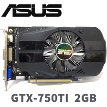 Asus GTX 750TI OC 2GB GTX750TI GTX 750 TI 2G D5 DDR5 128 비트 PC 데스크탑 그래픽 카드 PCI Express 3.0 컴퓨터 그래픽 카드