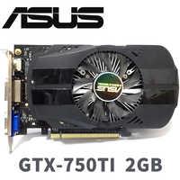 Asus GTX-750TI-OC-2GB GTX750TI GTX 750 TI 2G D5 DDR5 128 bits PC de escritorio tarjetas gráficas PCI Express 3,0 ordenador tarjetas de gráficos