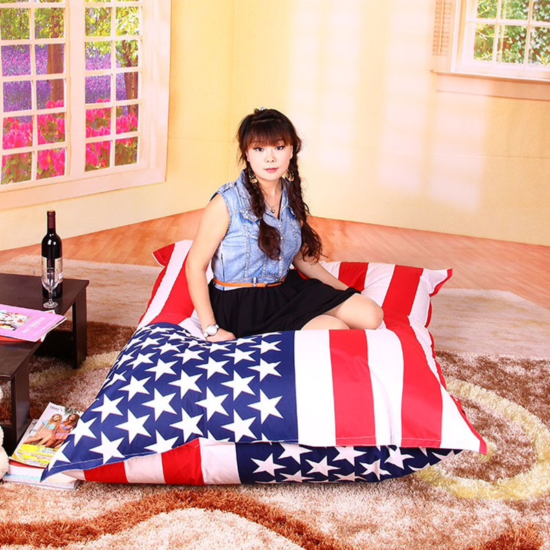 Free Shipping Sofa Cover Outdoor Uk And Usa Flag Indoor Bean Bags Chair Via China Post Air Mail Without Filling In From Home Garden On