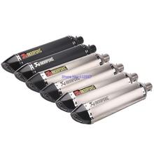 Фотография JOHOTAKI: Length 570mm Inlet 51mm Universal Motorcycle Exhaust Pipe Muffler Escape Akrapovic Laser Marking with DB Killer
