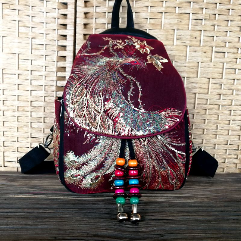 2019 New Traditional Backpacks Teenager Girls National Embroidery Backpack Travel Shoulder Bags School Bag Women Backpacks 332 2