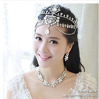 rhinenstone headbands bridal hair jewelry crown wedding wedding hair accessories head chain tiara de novia