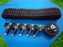 One Set of Track/Caterpillar Metal Driving Wheel with Plastic Bearing Wheel,Plastic Cement Wheel,For RC Tank Car,DIY Robot(China)