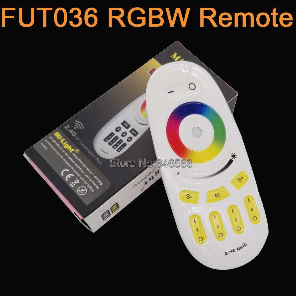 <font><b>FUT096</b></font> Mi.light 2.4G 4-Zone Touch Screen RGB RGBW LED Controller Wireless RF Remote Controller for MiLight LED Bulb Strip Light image