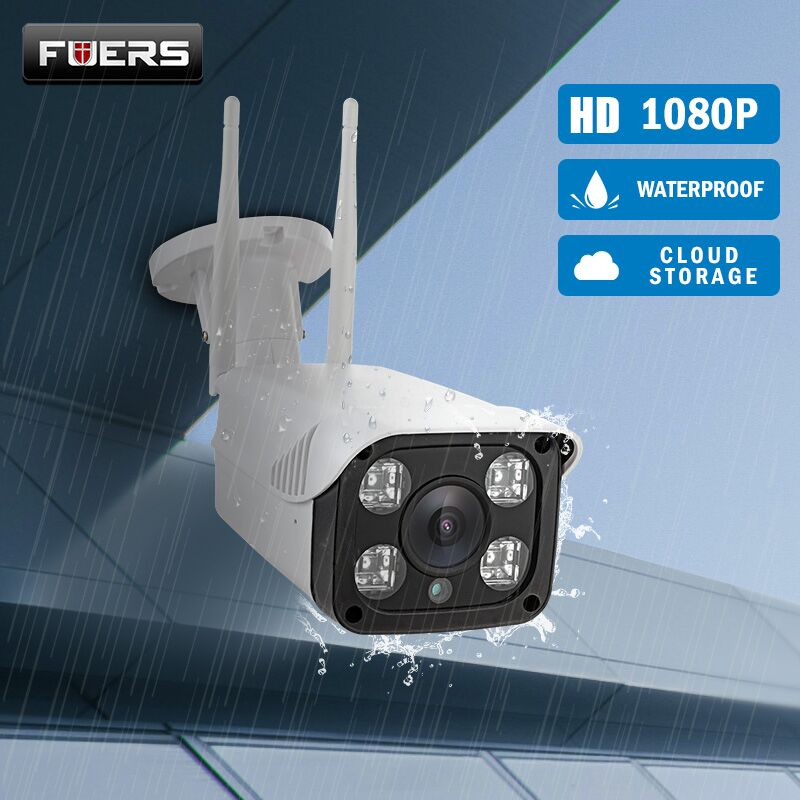 FUERS WIFI Outdoor IP camera 1080P 720P Waterproof Camera Cloud Storage CCTV 2.0MP Wireless Security Camera Record P2P Max 64G
