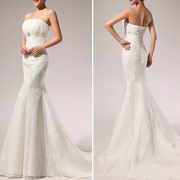 Vestidos De Noiva 2015 New White Strapless Sexy Wedding