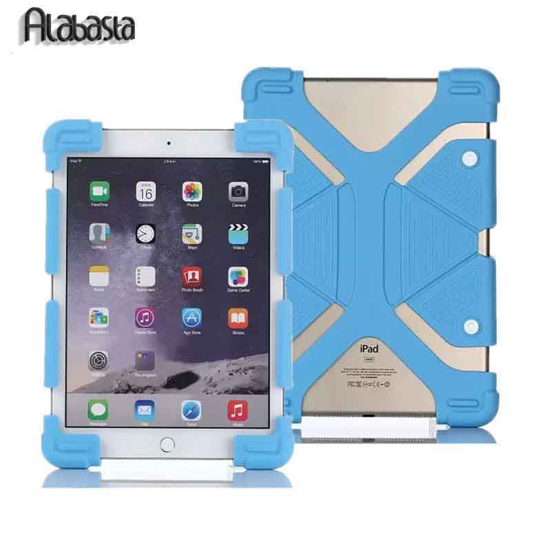 Alabasta Universal Adjustable Extendable Shockproof Stand Silicone Case Cover For 8.9-12 9.7 10.1 11 12  Tablet  ipad Samsung alabasta cover case for apple ipad air1