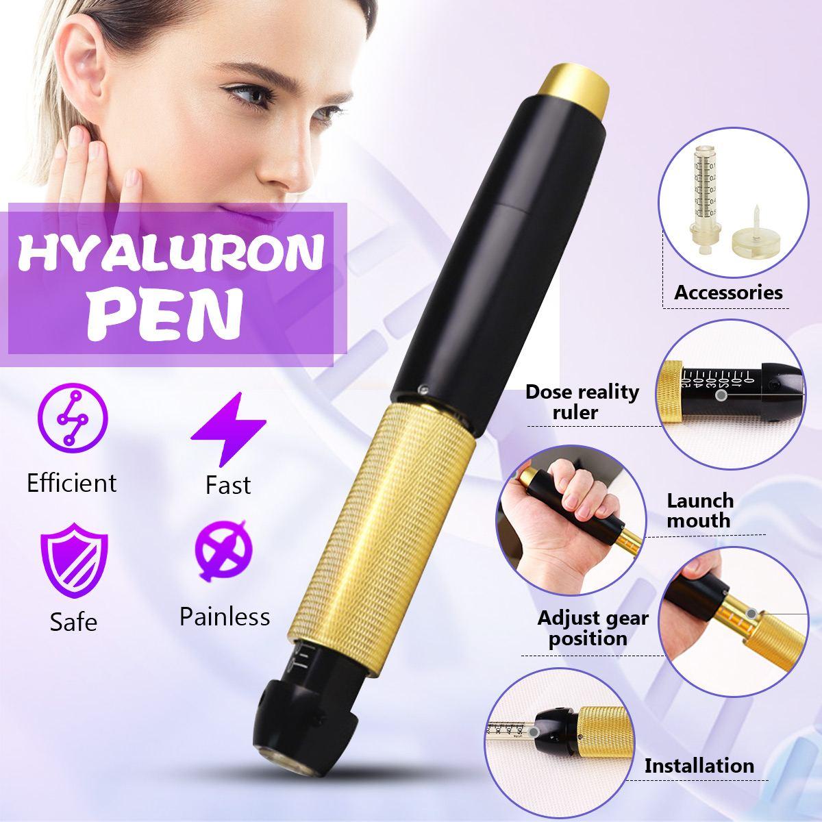 0.5 ml stylo d'injection hyaluronique Massage atomiseur stylo Kit pistolets à haute pression acide Anti-rides eau seringue aiguille Injection