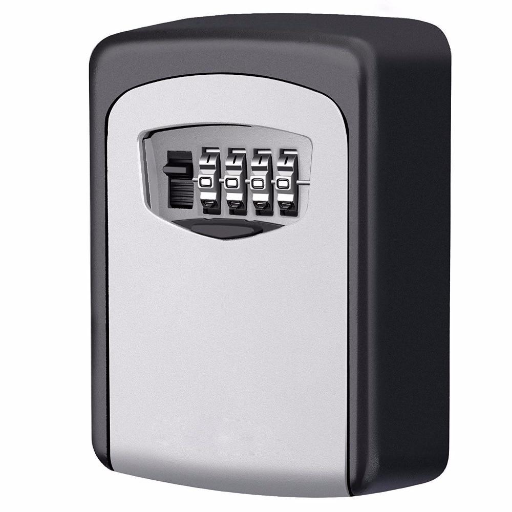 4 Digit Security Secret Code Lock Wall Mounted Combination Password Keys Locked Safety Home Durable Storage Box Money Key Hider