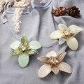 Винтаж акриловые хрустальный цветок брошь бижутерия булавки, значки нагрудные, броши mujer broche букет броши для женщин boutonnier