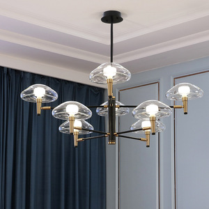 Image 4 - Postmoderne Led Kroonluchter Verlichting Iron Dining Lampen Luxe Deco Armaturen Woonkamer Hanger Armaturen Slaapkamer Opknoping Lichten