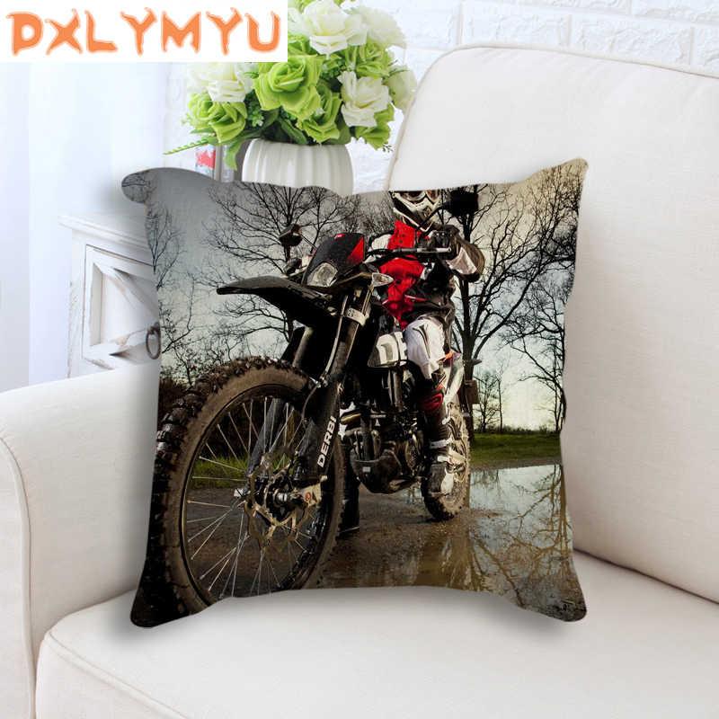 Legal Motocicleta Poster Capa de Almofada Estilo Cross-country Travesseiro Capa Para Sofá Carro Capa de Almofada Decorativa Fronhas 45x45 cm
