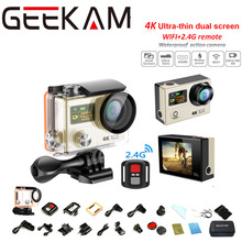 H3R 2.0LCD Double Screen Sports Action Camera Ultra 4K@25fps HD 1080p@60fps 12MP 170D 30M Waterproof WIFI Remote Control Car DVR