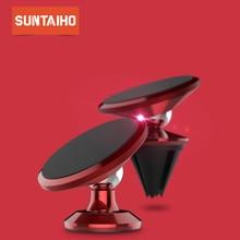 Suntaiho 자기 자동차 전화 홀더 아이폰 7 플러스 X 8 공기 환기 마운트 스탠드 삼성 S9 화웨이 P20 프로 샤오미 전화 홀더