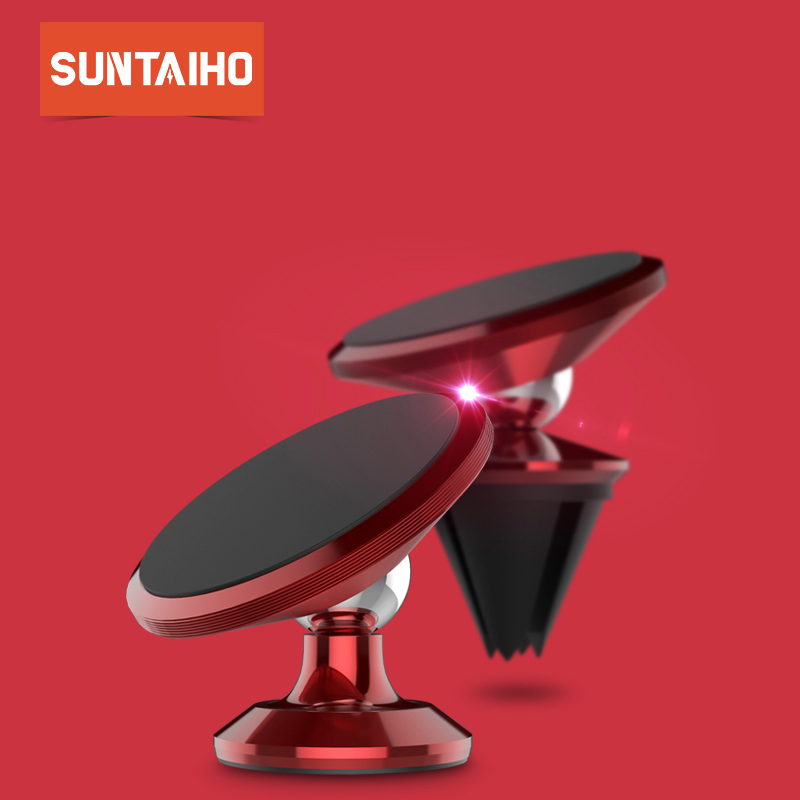 Suntaiho Magnetic Car Phone Holder For iPhone 7 Plus X 8 Air Vent Mount Stand For Samsung S9 Huawei P20 Pro Xiaomi Phone Holder