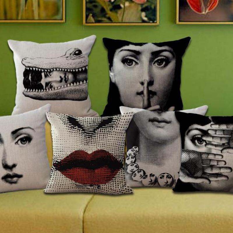 No Inner Filling Borong 100% New Trade Retro Art Cotton Linen Cushion Bantal di sofa untuk hiasan rumah
