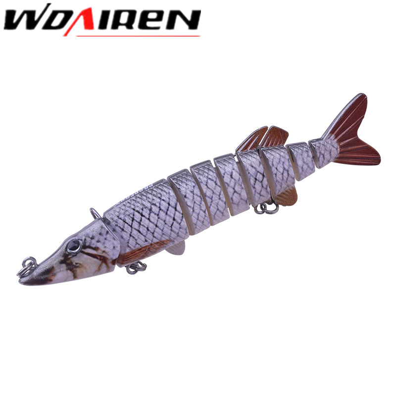 WDAIREN New Design 9 Sections Wobbler Fishing Lures 15.7cm 21.3g Swim Bait with 6# Hook Tackle 13 Colors Baits