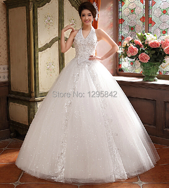 New Wedding Dresses The Broom Dress Hanging Neck Y White Tall Waist