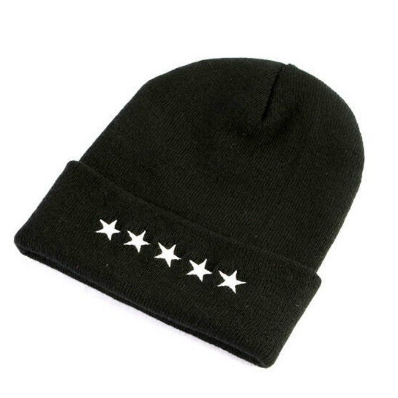 2017 Hiphop Beanie Star Hats for Women Cap Men Warm Knitting Wool Fall and Winter Outdoor Sports Skullies Hat RX113 2017 new wool grey beanie hat for women warm simple style bad hair day knitting winter wooly hats online ds20170123 x24