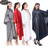 1pc Salon Professional Hairdressing Capes Wanny Silk Hair Cutting Wrap Coloring Styling Gown Hairdresser Barber Home Camps Cloth