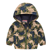 Fashion Girls Boys Jackets Printed Baby Outfits Thin Section Children Outerwear Hooded Child Coat For Summer and Spring 80-130cm