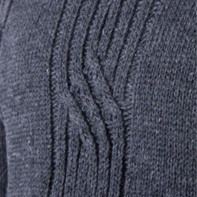 Covrlge 2017 Male Sweater Pullover Slim Warm Solid High Lapel Jacquard Hedging British Men's Clothing Mens Turtleneck Mzm030 #6