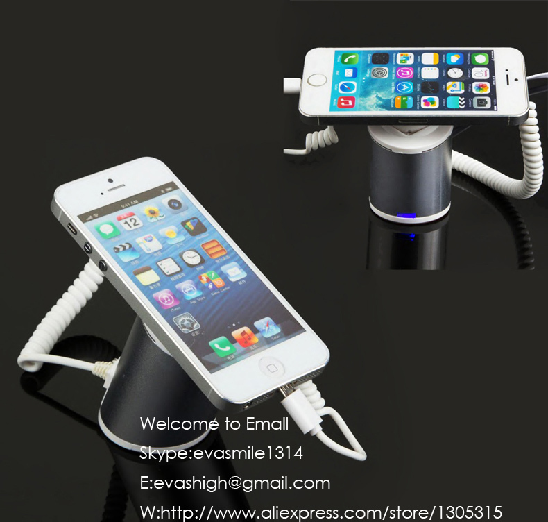 Mobile cell phone security display stand smartphone alarm holder iphone exbbit bracket for tablet anti-theft show rack wholesale price mobile phone anti theft alarm display stand with charging for exhibition