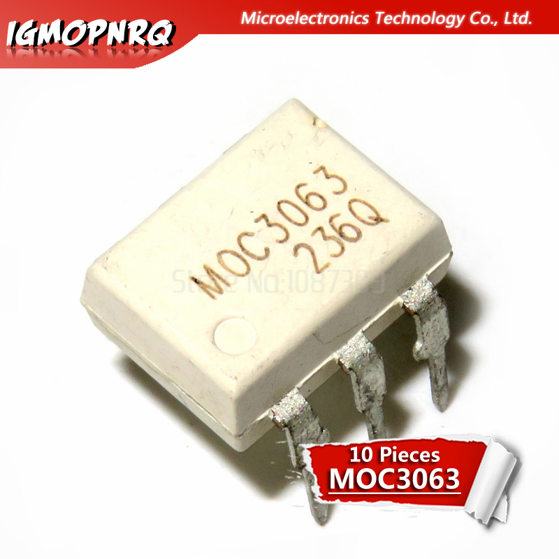 10pcs <font><b>MOC3063</b></font> <font><b>DIP</b></font>-<font><b>6</b></font> optocoupler new original image