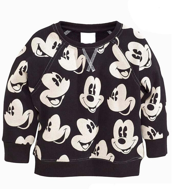 2017 Spring New Arrival Baby Girls boys girls terry sweater cartoon long sleeve T-shirt jerseys baby kids clothes