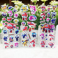6pc/set Super Wings Stickers 17*21cm Planes Stickers Airplane Robot Action Figures Transformation Toys Boys Birthday Gift