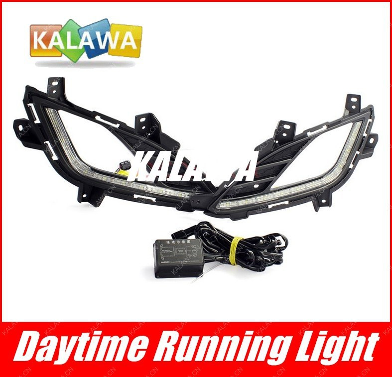 one pair Specific LED daytime running lights case for Hyundai Avante  led DRL with automatic yellow turning single GGG hyundai avante md напрямую из кореи