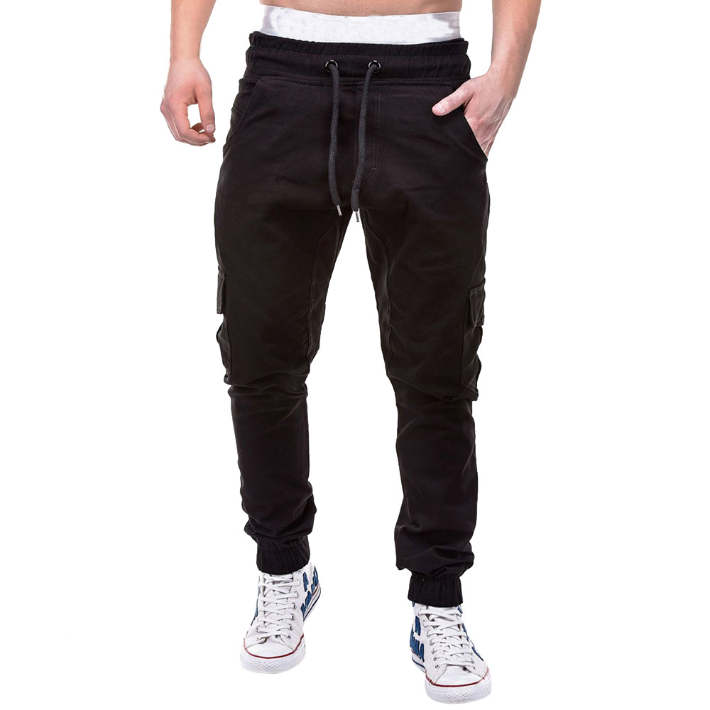 Большие размеры 4xl Мужская мода фитнес джоггеры одежда для мужчин s лоскутное повседневное Свободные тренировочные брюки уличная Мужская шнурок брюки
