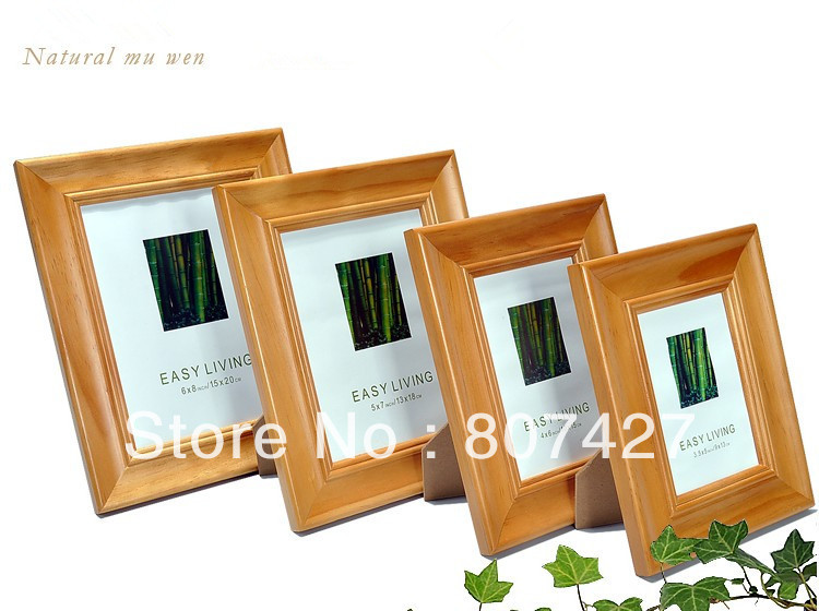 12x16inch european table setting real wood frame picture for How to display picture frames on a table