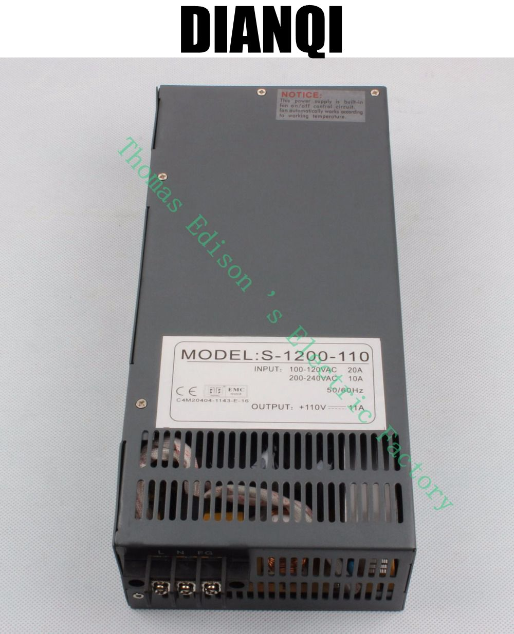 ФОТО 1200W 110V 11A power supply for LED Strip light AC to DC power suply Switching power supply input 110v 220v ac to dc S-1200-110