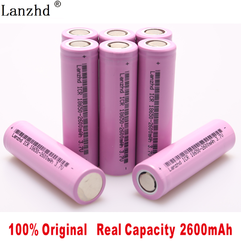 5 40Pcs ICR18650 Rechargeable Battery 2600mAh Lithium li ion Batteries 3 7V for samsung 18650 Battery for Flashlight notebook in Replacement Batteries from Consumer Electronics