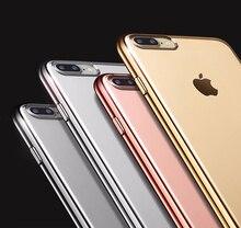 Para iphone 6 s 6 case para iphone 7 7 plus 6 6 s plus fundas de luxo ultra slim limpar tpu casos voltar capa para iphone 6 coque caso