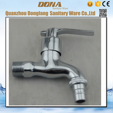 Free shipping Zinc alloy washing machine faucet and single cold inwall garden fast on tap