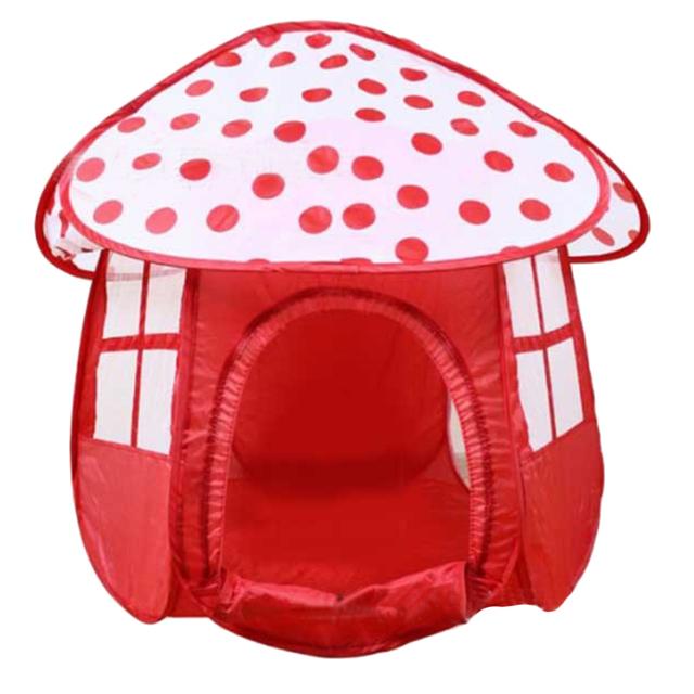 Portátil Red Crianças Crianças Brincam Tendas Ao Ar Livre Jardim Dobrável Brinquedo Tenda Crianças Menina Forma de Cogumelo Casa Crianças Jogo Tenda Ao Ar Livre