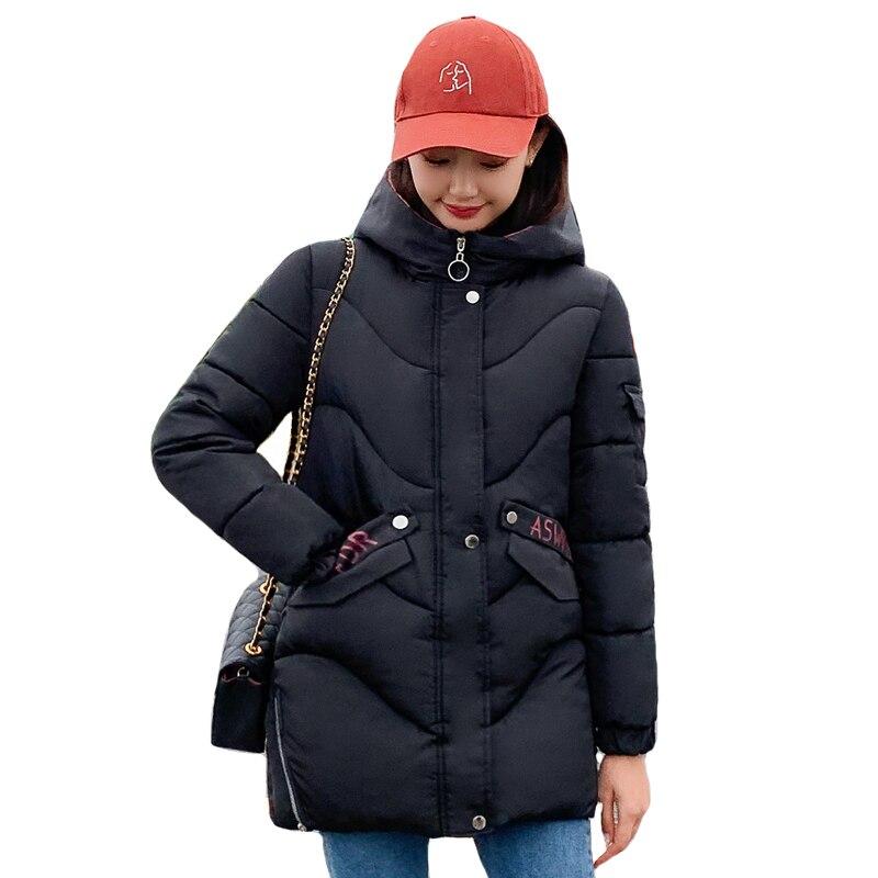 2019 Warm Thicken Winter Jacket Women Hooded Long Female Padded   Parka   Outwear Coat   Parka   Mujer Invierno