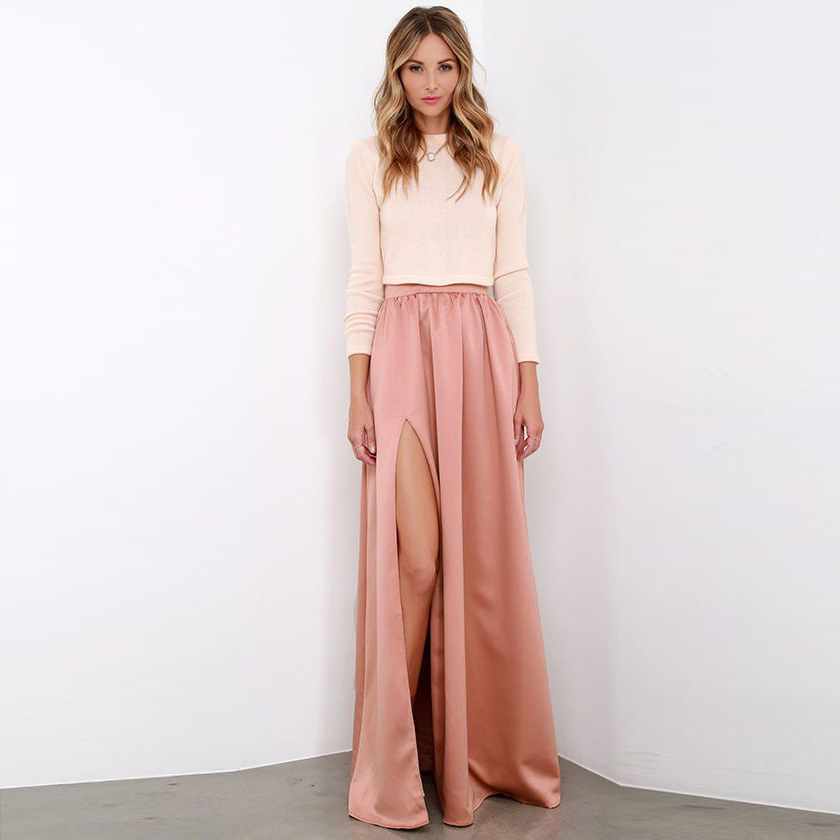 Compare Prices on High Waisted Maxi Skirt with Slits- Online ...