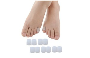 Image 4 - 10 pcs/lot Silicone gel little toe tube corns blisters Corrector pinkie protector gel bunion toe finger protection gel sleeve