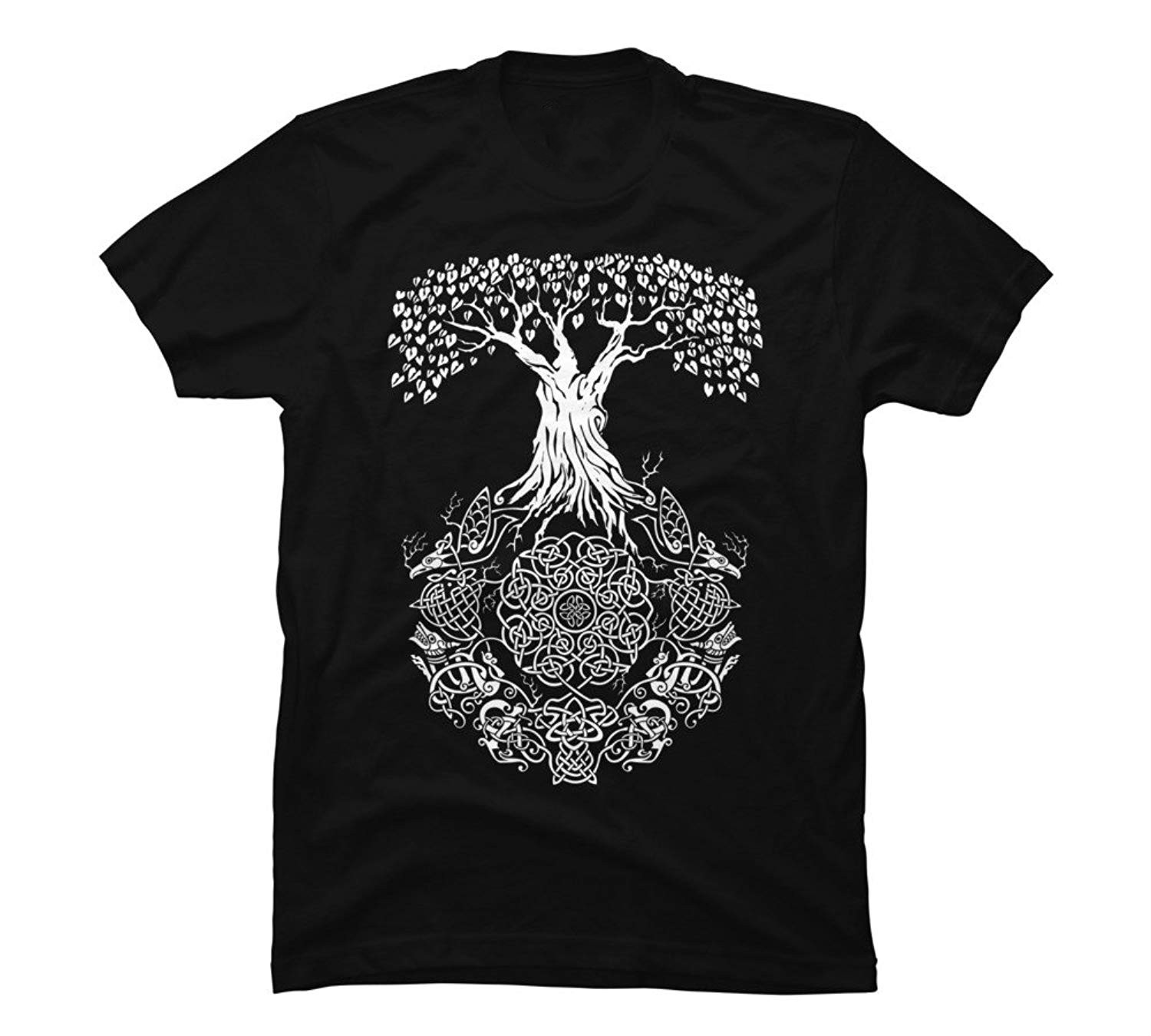 Yggdrasil Tree of Life Men's Graphic Design By Humans Hip Hop Novelty T Shirts Men'S Brand Clothing top