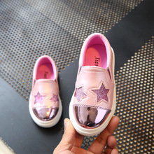 4-12 Year Children Shoes Girl Sneakers 2017 New Fashion Casual Shoes Kids Running Sports  Shoe For Girls Slip-On Flat Soft Shoe