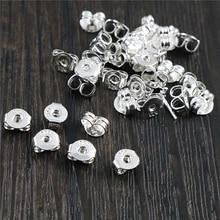 100pcs High Quality 925 Silver Plated Color Copper Earring Back Plug Earring Settings Base Ear Studs Back Whole Sale-L2-42