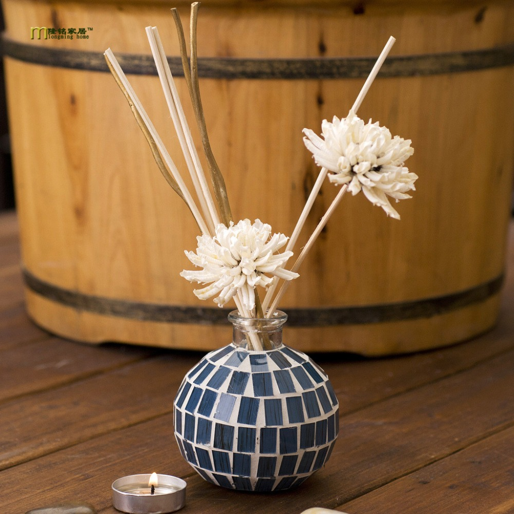 1PC 6 aroma no fire aromatherapy Home Furnishing genuine high end color glass ornaments aromatherapy set KA 1310