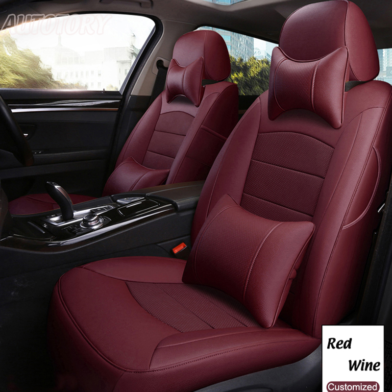 Autotory Cowhide Leather Covers Seat for Hyundai SANTAFE Seat Cover Genuine Leather 5 & 7 Seats Car Supports Cushion Accessories