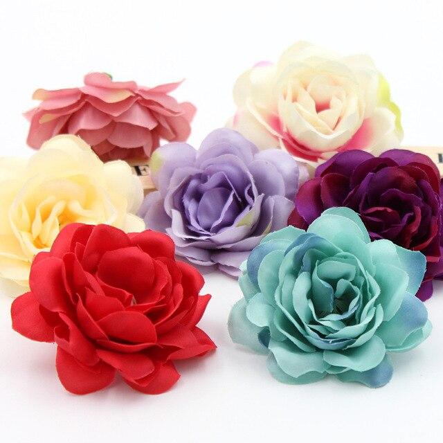 2 pz Fiore Di Seta Dalia Rosa Testa di Fiore Artificiale Decorazione di Cerimoni
